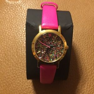 Kate Spade Mini Metro Pink Glitter Watch